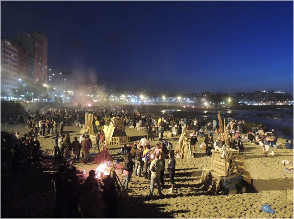 celebración de San Juán en Coruña