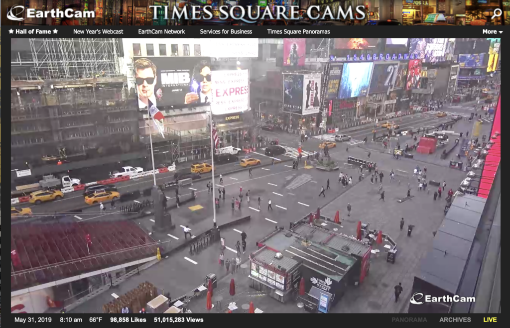 Times Square webcams