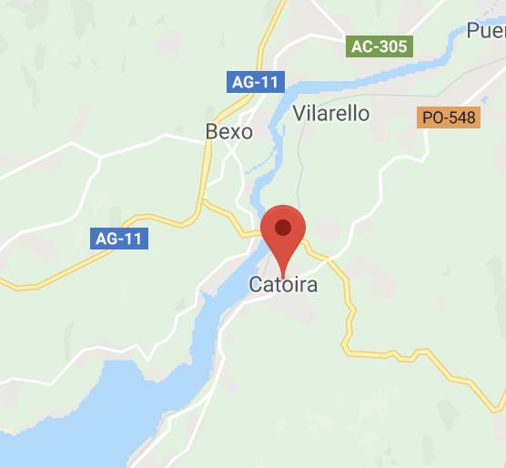 Catoira mapa