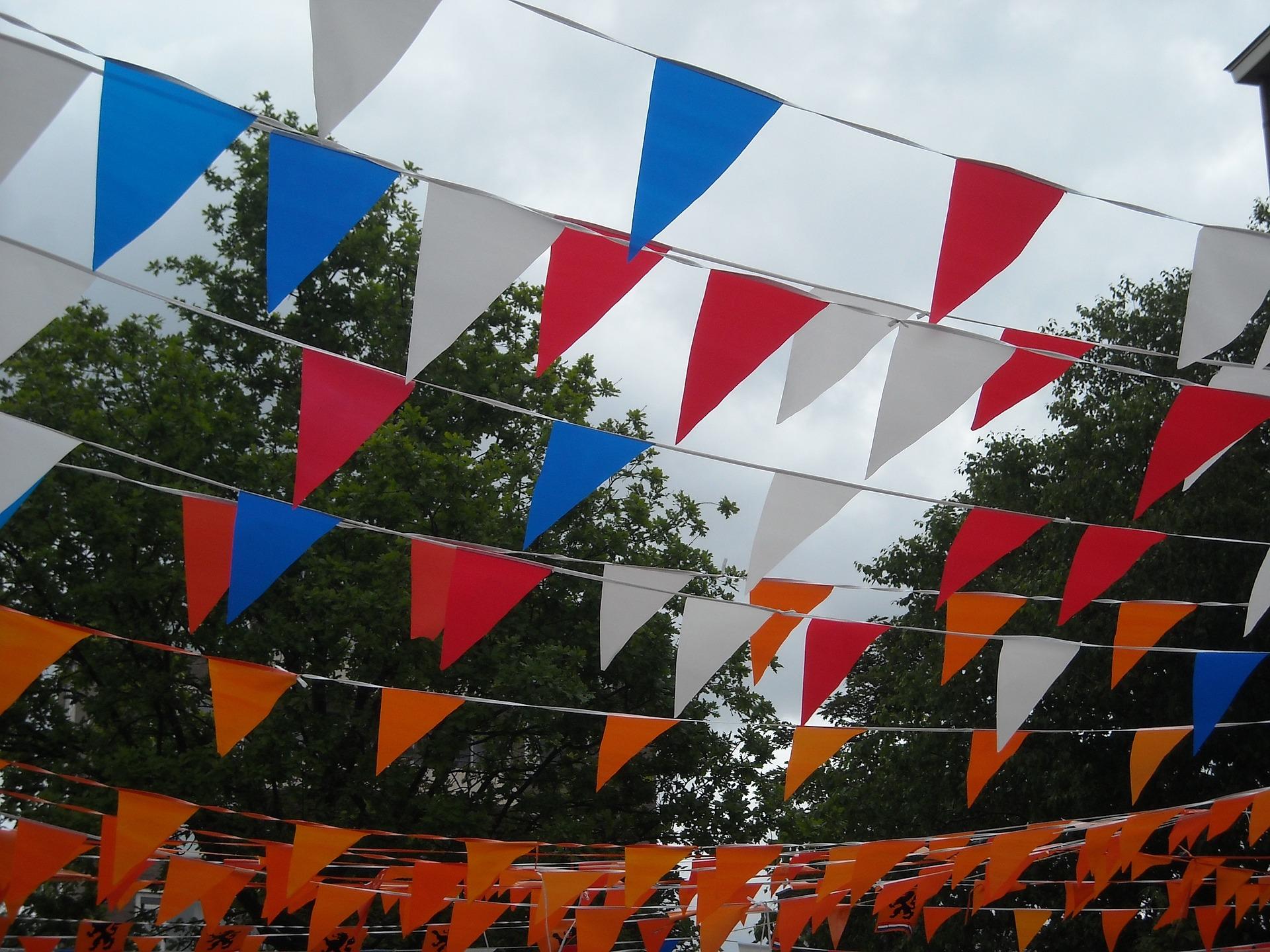 Banderas fiesta