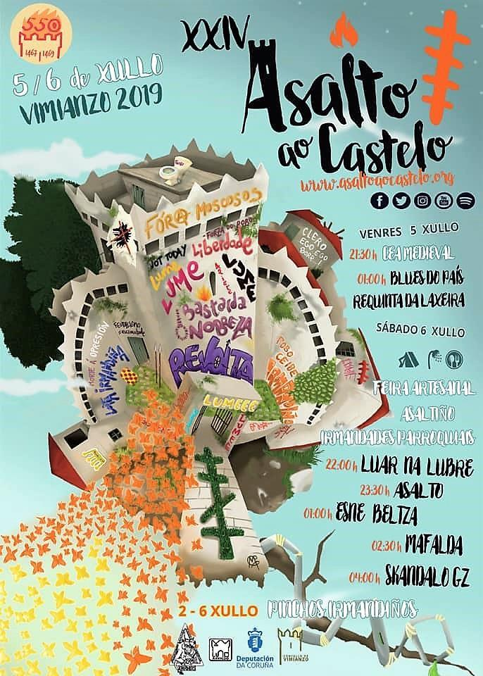 Cartel do asalto ao castelo 2019