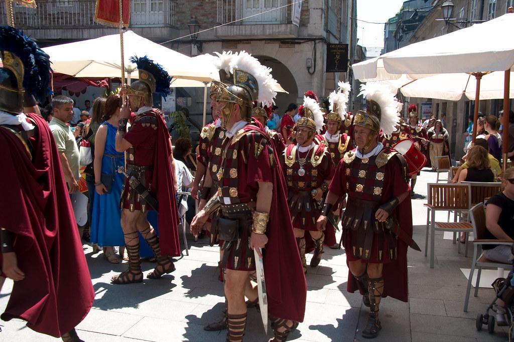 Soldados romanos en el Arde Lucus